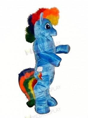 Blue Pony Horse Mascot Costumes Cartoon