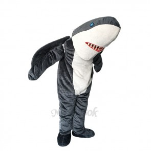 New Lovely Gray Sharky Shark Mascot Costume