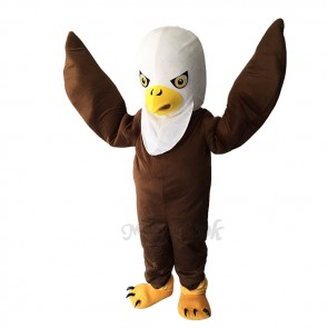 Brown Long Wool Eagle Mascot Adult Costume