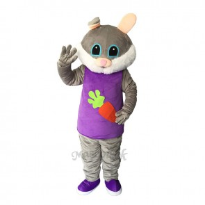 Easter Female Bunny Rabbit Plush Adult Mascot Costume