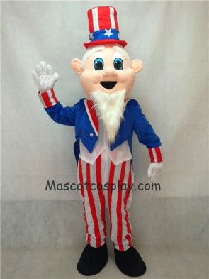 Uncle Sam Patriotic Mascot Costume with Hat