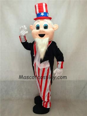 Uncle Sam Patriotic Mascot Costume with Black Tuxedo