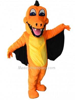 New Orange Dragon with Wing Mascot Costume