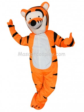 High Quality Yellow Tigger Winnie the Pooh Tiger Party Carnival Christmas Adult Mascot Costume