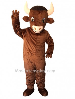 New Cute Brown Bison Mascot Costume