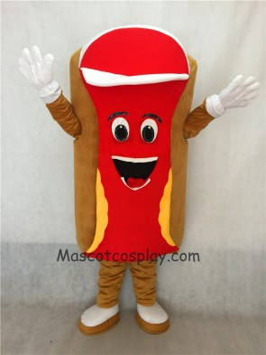 Food Promotion Snack Red Hot Dog Mascot Costume Fancy Dress Outfit