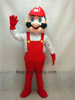 Mario with Red Clothes Mascot Adult Costume