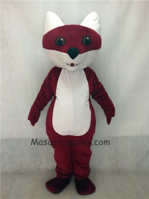 Dark Rust Red Brown Cartoon Fox Mascot Costume