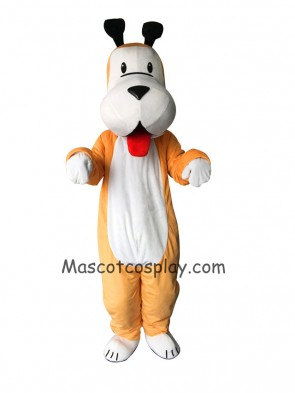Cute White and Yellow Dog Mascot Costume