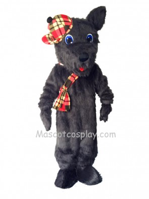 Cute Black Scotty Dog Mascot Costume