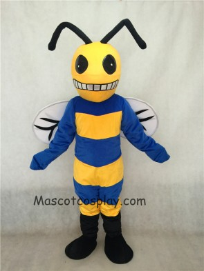 Custom Color Royal Blue and Yellow Bee Mascot Costume