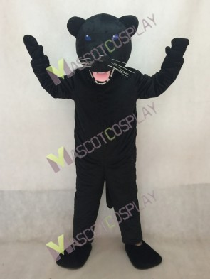 Black Pantera Panther Mascot Costume in Blue Eyes