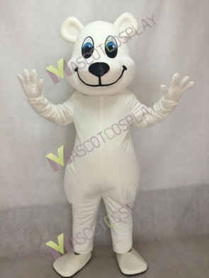 White Breezy Polar Bear Mascot Costume