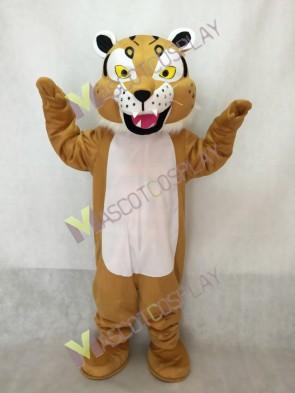 Tan Bobcat Mascot Costume