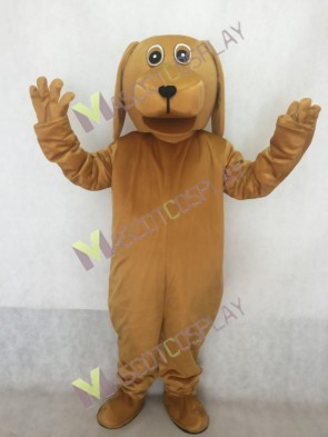 Brown Dog With Big Mouth Plush Mascot Costume