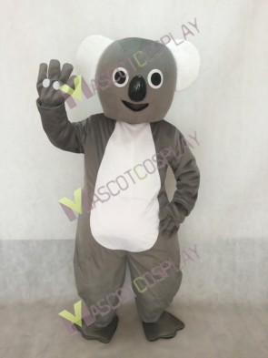 Gray Big Koala Mascot Costume