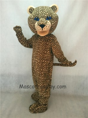 Jaguar Mascot Costume with Blue Eyes