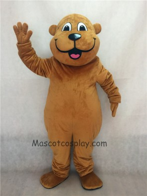 Brown Woody Woodchuck Mascot Costume