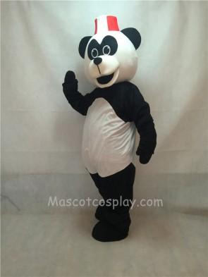 Cute Peter Panda with Hat Mascot Costume