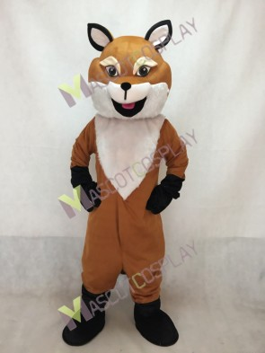 English Fox Mascot Costume with a Big Tail
