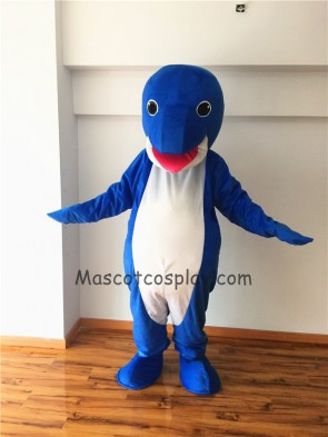 Cute Whale Short Plush Adult Mascot Costume