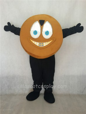 Light Brown Hockey Puck Mascot Costume