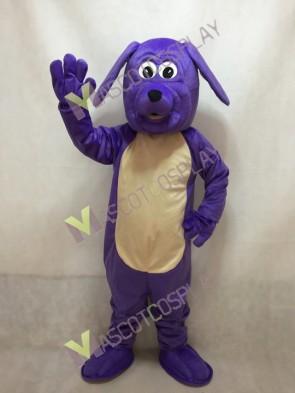 Purple Pup Dog Mascot Costume