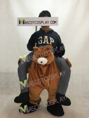 Ride on Me Teddy Bear Carry Me Piggyback Brown Bear Stuffed Stag Mascot Costume