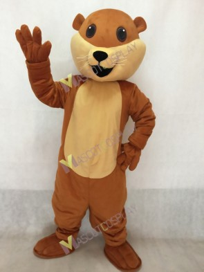 High Quality Realistic New Brown Ollie Otter Mascot Costume