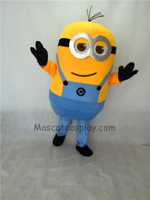 Cute Two Eyes Despicable Me Minions Mascot Costume