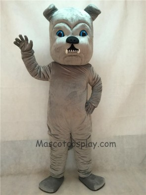 Vivid Grey Bulldog Dog Mascot Costume