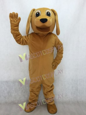 Lovely Golden Dog Mascot Adult Costume