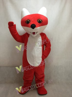 Custom Color Cartoon Red Fox Mascot Costume