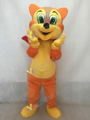 Funny Squirrel with Red Tail Mascot Costume