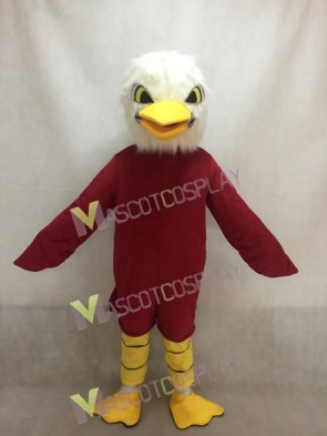 White Head Brown Eagle Mascot Costume