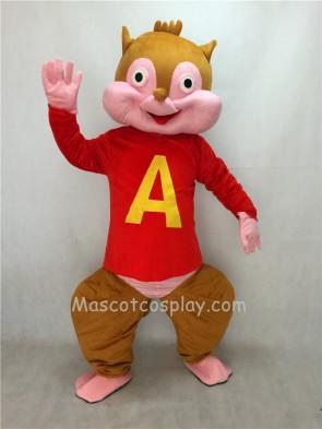 Cute Alvin Chipmunk Adult Mascot Costume
