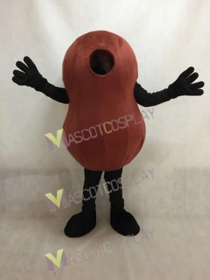 Brown Kidney Bean Mascot Costume