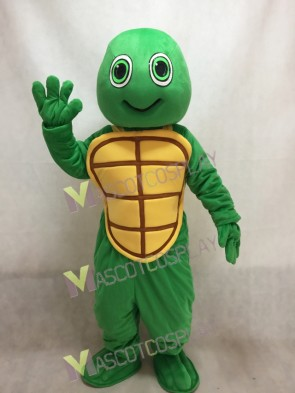 Green Happy Turtle Mascot Costume