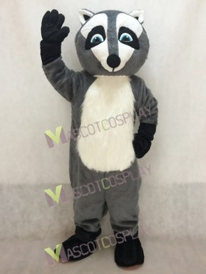 Gray Ricky Raccoon Costume Mascot