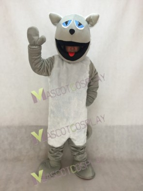 Grey Cat with White Belly Mascot Costume
