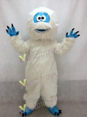 White Yeti Abominable Snowman Mascot Costume Halloween Party Outfit