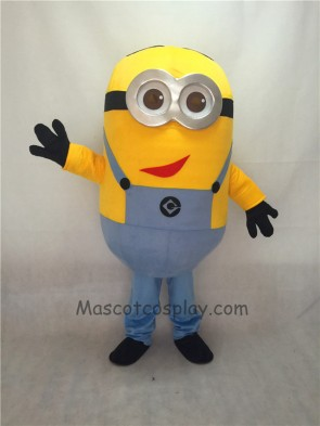 Cute Despicable Me Minions with Red Mouth Mascot Costume
