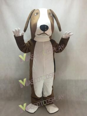 Brown and White Basset Hound Dog Mascot Costume