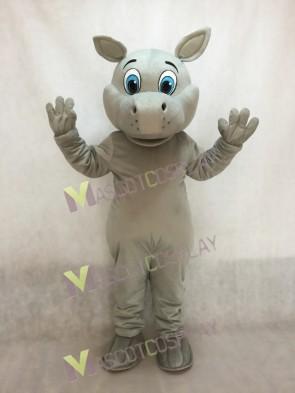 Grey Hippo Hippopotamus Mascot Costume