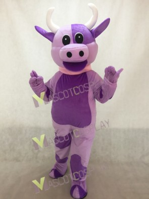 Lovely Purple Cow Mascot Costume