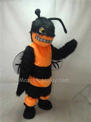 Cute Plush Orange Friendly Hornet Bee Mascot Costume