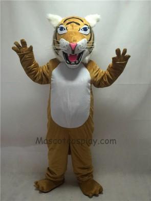 Fierce New Tan Wildcat Mascot Costume