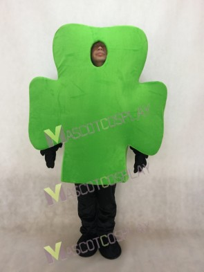 Green Shamrock Mascot Costume
