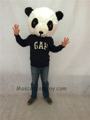 Black And White Panda Plush Adult Funny Mascot Head ONLY