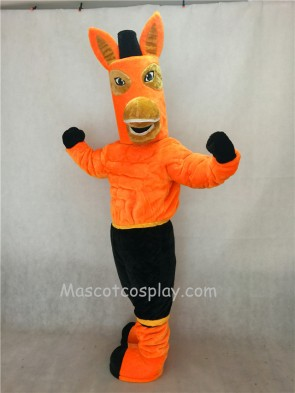 Brown Jack Mule Mascot Character Costume Fancy Dress Outfit